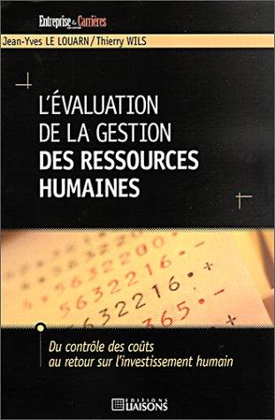 L' évaluation de la gestion des ressources humaines par Jean-Yves Le Louarn