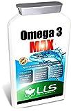 LOVE LIFE Hochfeste Omega 3 Fischöl | Natürliche Quelle für essentielle Omega-3-Fettsäuren (EPA und DHA) | 1000 mg x 120 Kapseln | Premium GMP Supplement (hilft pflegen gesunde Haut, Haare, Zähne, Zahnfleisch, Knochen, Gelenke, Immunsystem, Kreislauf und Nervensystem)