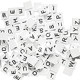 MagiDeal 100pieces Weiße Hölzerne Buchstaben Puzzle Fliesen Alphabet Würfel Blöcke - Farbe4