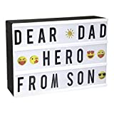 StillCool LED Light Box A4 Lettera decorativa a LED con 90 lettere,85 colore Emojis LED Cinematic...