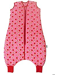 e6f1478f4200 Slumbersac Sleeping Bag with Feet and Poppers 2.5 Tog-Simply Red Apple - 6-