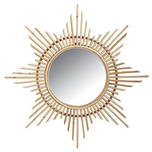 Espejo-de-pared-con-forma-de-estrella-de-mimbre