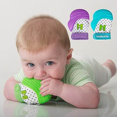 Mouthie Mitten - Moufle mitaine de dentition en silicone - Vert