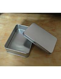 Distinct® Mini lata del metal de plata del tirón de la caja de almacenaje del organizador del caso de la moneda del dinero del caramelo Keys