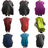 aiuin Schürze Haarschnitt Stoff ökologische Wasserdicht Schönheitssalon Kleid Kap Frisur Schürze Akkus Stil zufällige Farbe