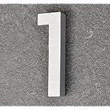 nanook Numéro de maison 1 en aluminium massif brossé 100 mm