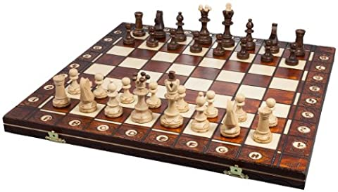 Albatros 2479-Game Chess Wooden Chess Game DA VINCI 42 x 42 cm (Imported from Germany)