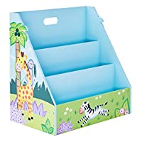 Fantasy Fields By Teamson TD-13141A Kids Wooden Bookcase Magazine Rack, Blue
