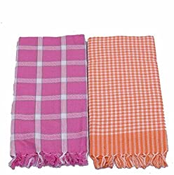 EagleShine Set of 2 Cotton Bath Towel Multi