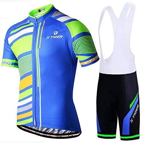 GFF Sommer Kurzarm Sling Anzug, jugendlich schöne schlanke schnell trocknende atmungsaktive 3D-Kissen Reitausrüstung Sportswear -