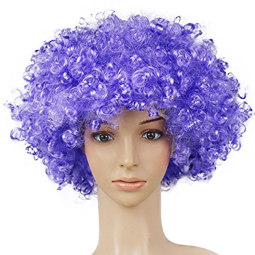 outflower Perücke Clown Haar Perücken Kind Erwachsene Masquerade Party Haar Halloween Weihnachten Requisiten lila