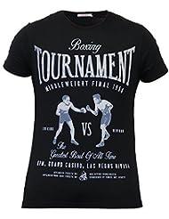Hommes Manche Courte T Shirt By Threadbare Boxe Gym