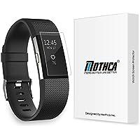 Fitbit Charge 2 Protezione dello Schermo, Mothca (6-pack) Copertura Completa Proteggi Schermo per Fitbit Charge 2 HD Pulire Anti-Bubble Pellicola
