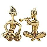 ShalinIndia Aufhängen Folk Musiker Spielen Tabla und Shehnai, Gold, Größe: 3,5x 0,5x 6