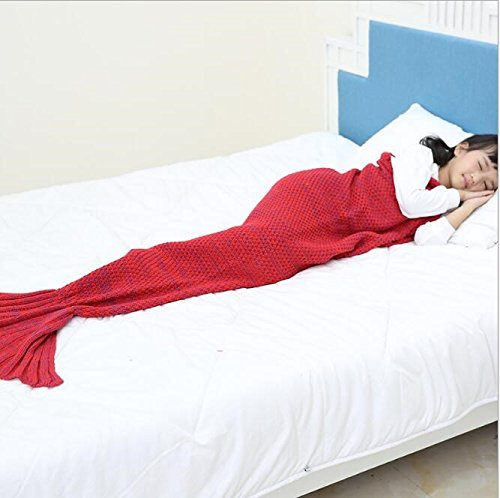 Sirena di bambini coperte lana maglia pesce coda coperte pisolino