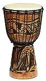 40 cm Profi Djembe Bongo GIRAFFE Afrika Style Carving Trommel