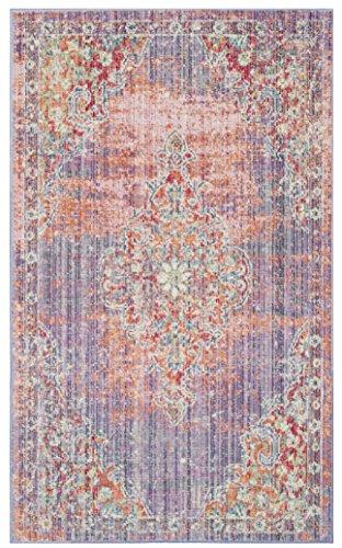 Safavieh Teppich, Baumwolle Lavendel/Fuchsie, 90 x 150 cm