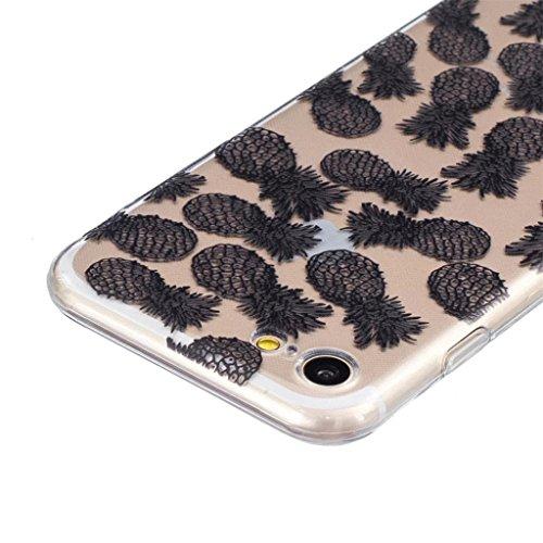 "MYTHOLLOGY Coque iPhone 7 - SEUL Pour 4.7"" iPhone 7 Coque Silicone Coque Souple Slim Coussin Etui Housse - BHHS HSBL"