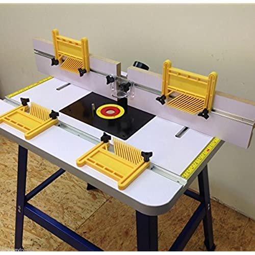 Woodworking router table amazon pro router table bench floor standing with feather boards included keyboard keysfo Choice Image