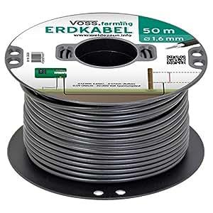 Câble haute tension enterrable pour clôture électrique, 50 m, noyau en cuivre, extra flexible