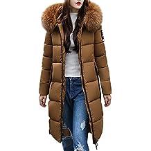 FELZ Abrigos de Invierno Invierno Slim Abrigo con Capucha Acolchado Chaqueta Largo con Capucha para Mujer