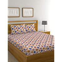 Raymond Home Exclusive Collection Flat Double Bedsheet Set, Multi-Colour, 220 x 240 cm, 005172-Bf01