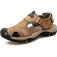LXMEI Sandali estivi - Sandali Baotou da uomo a piedi - Primo strato di scarpe da spiaggia sportive in pelle - Scarpe da allenatore casual…