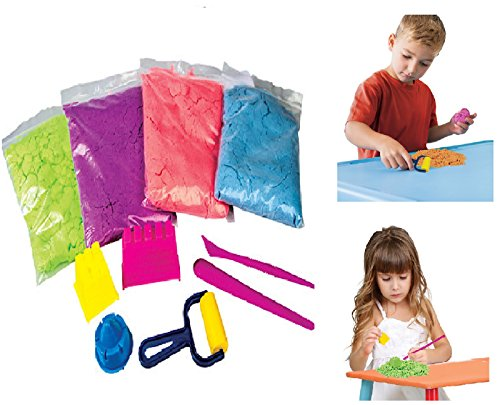 11pcs-magic-motion-sand-500g-play-set-beach-moulds-childrens-kids-moving-dough-by-quick-sand