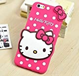 Dream2Cool Hello Kitty Silicone with Pendant Back Cover for Vivo Y55 and Y55L (Pink)