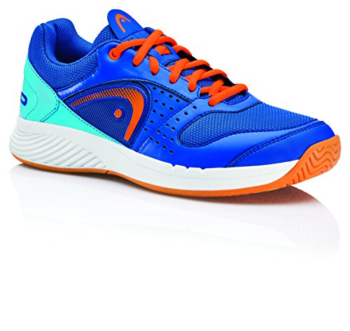 HEAD Herren Sprint Team Squashschuhe, Blau (Blue/Shocking Orange Blso), 43 EU