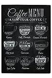 LEotiE SINCE 2004 Puzzle Kaffee Kaffeekarte Bedruckt 120 Teile