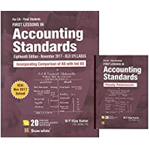 Snow White Publication's First Lessons in Accounting Standards with Ready Referencer for CA Final May 2018 Exam [Old Syllabus] by M P Vijay Kumar