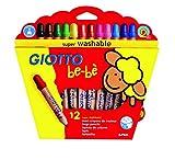 Giotto Bebè 466500 - Supermatitoni Astuccio 12 Colori + Temperamatite
