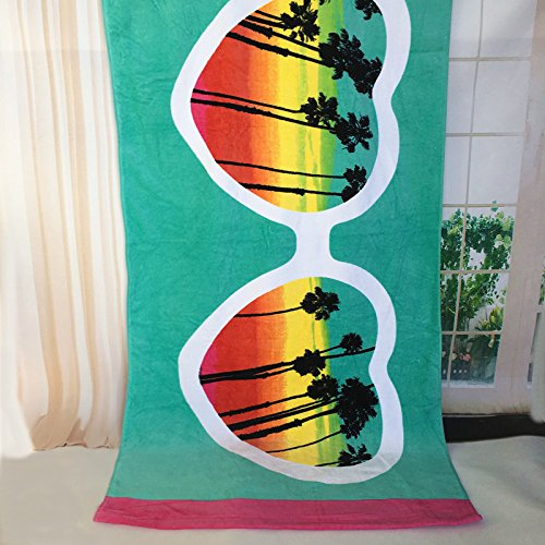 Drucken Strandtuch (MangeooReine Baumwolle nach Badetuch für 17 Jahre, neue Schnitt samt Cartoon drucken Strandtuch, große Männer der Kinder und Frauen, andere Größen, Zitrone)