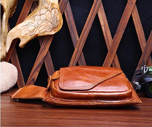 DJB/ Leder Brust bedeckt Männer geschlungen kleine Baotou Crazy Horse Leder Herrentaschen 3