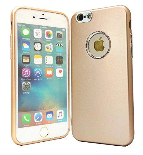 Case iPhone 6/6S Plus Custodia Cover Coperture telefoniche Silicone TPU Soft Shell Caso Tasto di placcatura per cassa del telefono raschiatore anti-impronte digitali+ Proteggi Schermo Trasparente(5.5 Doro