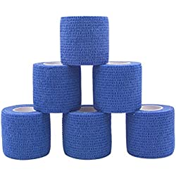 COMOmed Non-woven fabric self-adhesive Bandage venda cohesiva Mascota Vendaje Azul 5cmX4.5m 6 Volumen