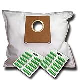 20 Staubsaugerbeutel + 20 Duftstäbe geeignet für Bosch Logo pro Parquet 3 2000 W . BSG 62023 - kompatibel zu Swirl S 67 . S67