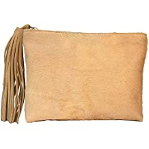 BEIGE PANTHER CLUTCH Bolso By Texas Tribu.