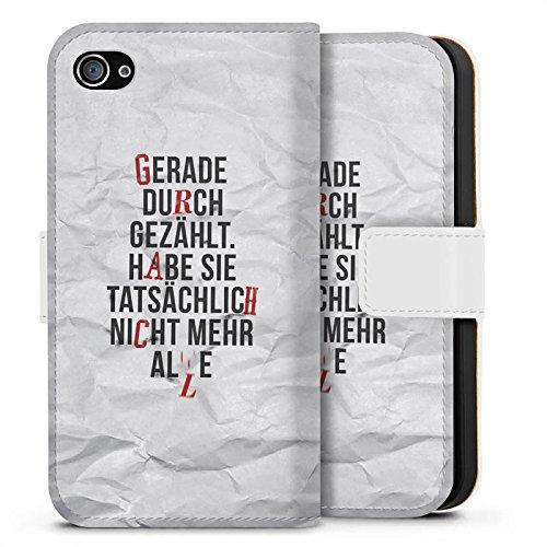 Apple iPhone 8 Silikon Hülle Case Schutzhülle Sprüche Statement Spruch Sideflip Tasche weiß