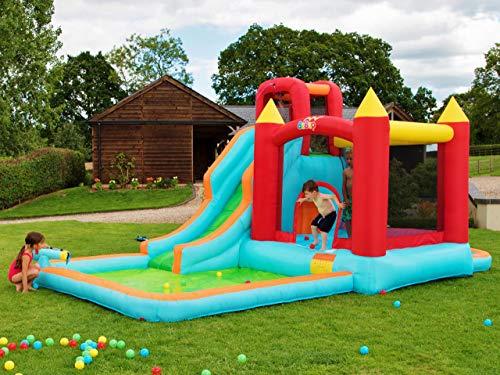 Bebop selvaggio spruzzo castello gonfiabile per bambini e scivolo d'acqua in uno