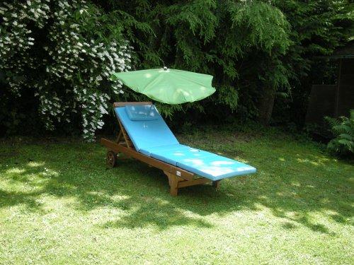 Chaise longue compartiments Parasol - Stabielo Exclusive compartiments Holly 'sun ® couleur vert foncé - Housse - amovible + lavable + échange Bar - UPF 30 + 40 + 50 + résistant aux intempéries, imperméable, lumière 5-6 en polyester 160 g - Aufgespannt 140 x 70 cm - LumièreProtection avec Holly® Rayon 5 Compartiment dans le support multi - réglable de Chaise de Table Fixation de balcon pivotant à 360 ° avec capuchons de protection en caoutchouc Pinces pour fixation sur ou eckigen Éléments de Ø 25-55/60 mm Ronds - Production Housses de Montagne - Modèle Husum - Holly-Sunshade®