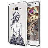 Samsung Galaxy Grand Prime Hülle Handyhülle von NALIA, Slim Silikon Motiv Case Cover Crystal Schutzhülle Dünn Durchsichtig, Etui Handy-Tasche Backcover Transparent Bumper, Designs:Bird Princess