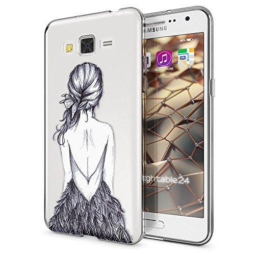 NALIA Handyhülle kompatibel mit Samsung Galaxy Grand Prime, Slim Silikon Motiv Case Cover Crystal Schutzhülle Dünn Durchsichtig, Etui Handy-Tasche Back-Cover Transparent, Designs:Bird Princess