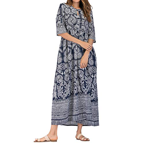 SHINEHUA-kleid Langes Kleid elegant Damen Elegant Boho-Kleid Strandkleid Maxikleid Langarmkleid...
