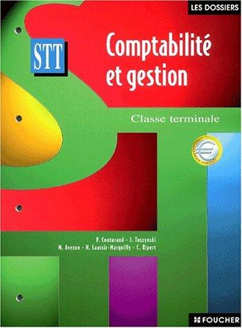 Comptabilité et gestion Terminale STT