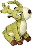 House of Paws Tweed Plush Stag Dog Toy, Green