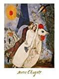 1art1 38637 Marc Chagall - Die Verlobten Vom Eiffelturm Poster Kunstdruck 30 x 24 cm