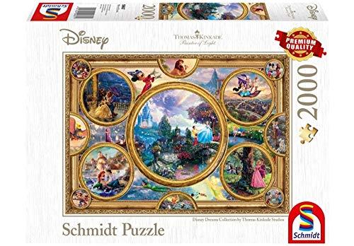 Unbekannt Puzzle Thomas Kinkade Disney Dreams Collection, 2000 Teile
