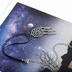 Yean Dream Catcher Gargantilla de pluma colgante collar de plata joyería para mujeres y niñas